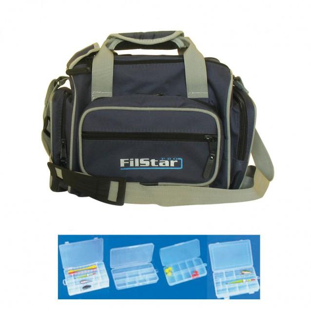 Чанта + 6 кутии De Luxe /KK24/ Combo за спиннинг