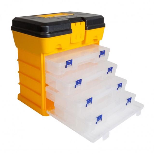 Куфар Raven Plastic Utility Box with 4pcs Organizers