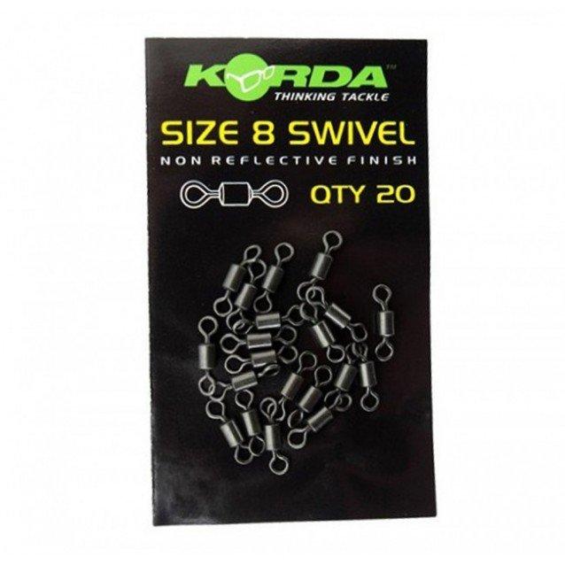 Вирбели Korda Size 8 Swivels