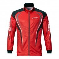 Shimano блуза с цип Full Zip Print Shirt - Red