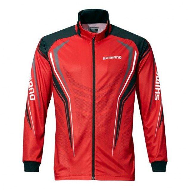Shimano блуза с цип Full Zip Print Shirt - Red