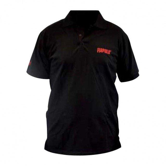 Тениска с яка Rapala Polo T-Shirt Black