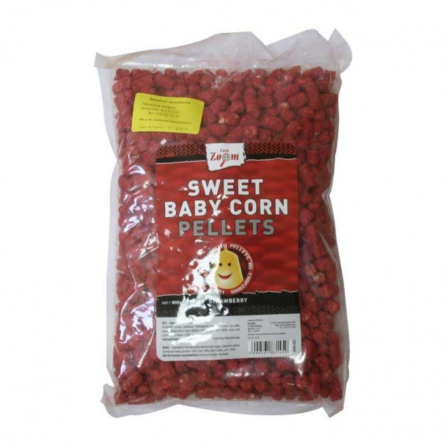 Пелети за риболов - CZ Sweet Baby Corn Pellets Strawberry