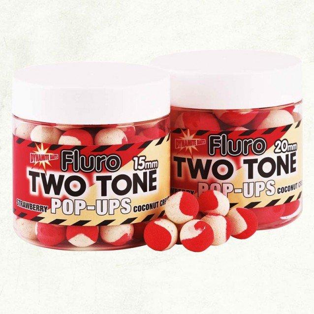 Плуващи топчета DB Boilie Pop-Up Two Tone - Strawberry & Coc