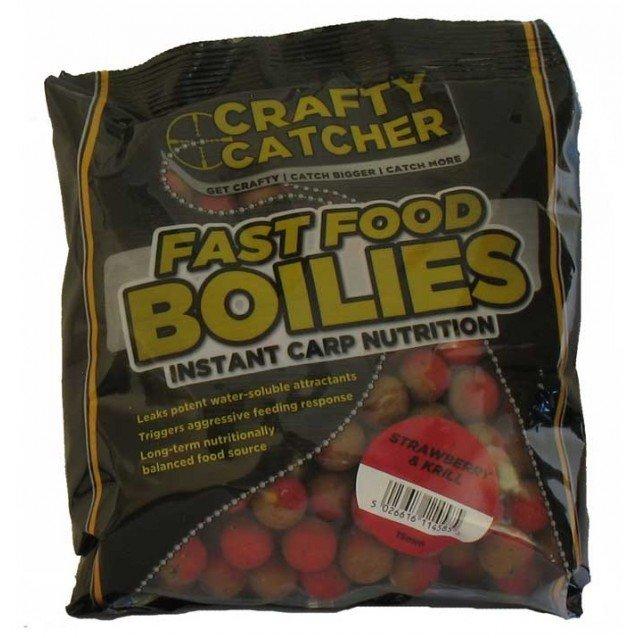 Протеинови топчета - CRC - Fast Food Boilies Strawberry & Krill