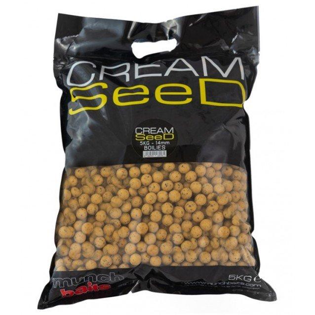 Протеинови топчета Munch Baits Cream Seed Boilies 5kg