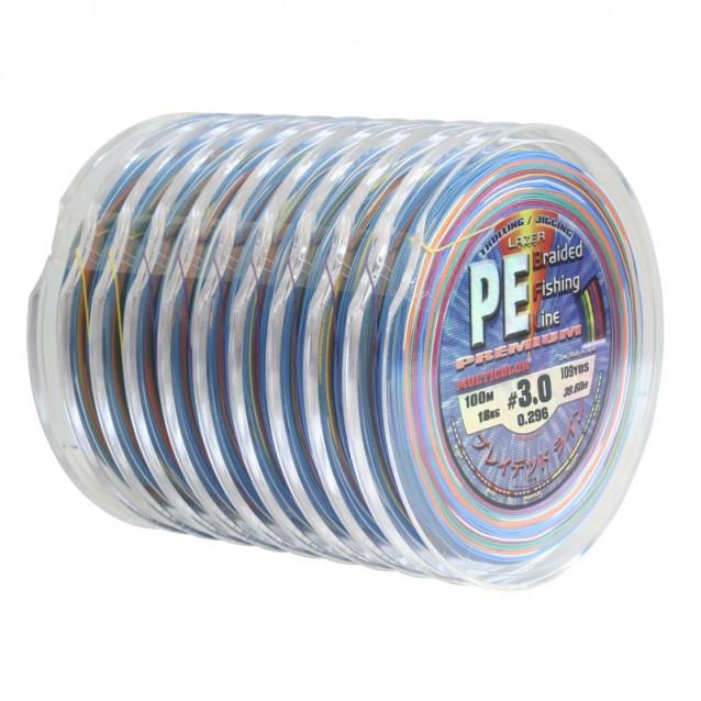 PE Braid Multicolour - 100m - 10 бр.