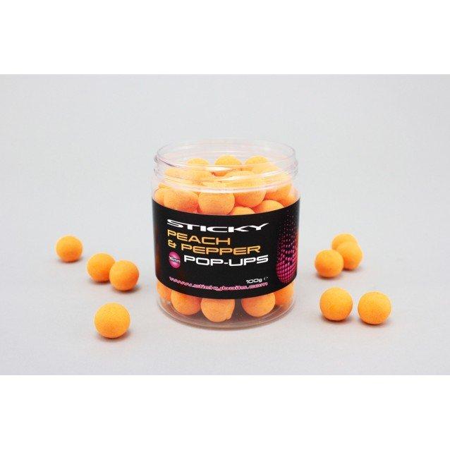 Плуващи топчета Peach & Pepper Pop Ups Sticky Baits