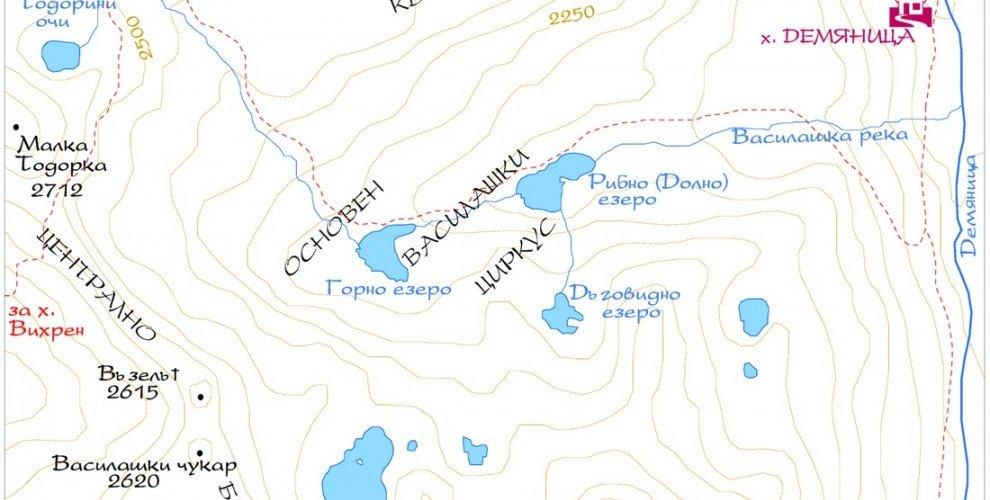 Езера за риболов в Пирин